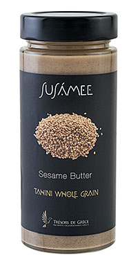 Sesame butter wholegrain 1 SUSÁMEE SESAME BUTTER WHOLEGRAIN FROM LEMNOS