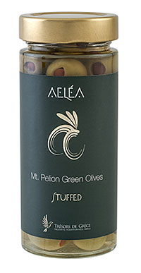 aelea Stuffed MT. PELION GREEN OLIVES PITTED WITH PEPPERS