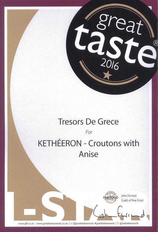 GTA KETHEERON 1star Sept 2016 KETHEERON Croutons with Anise GREAT TASTE 1 STAR