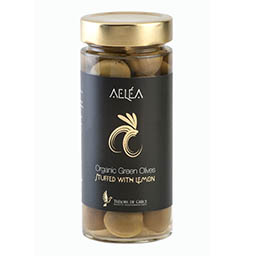 intro aelea organic olives with lemon Organic Green olives with lemon 170g