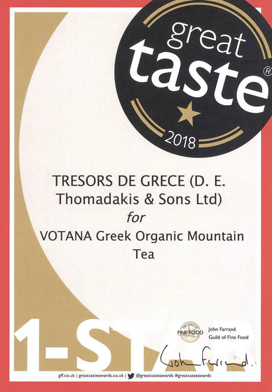 gta 2018 votana mountain tea Votana greek organic mountain tea GREAT TASTE 1 STARS