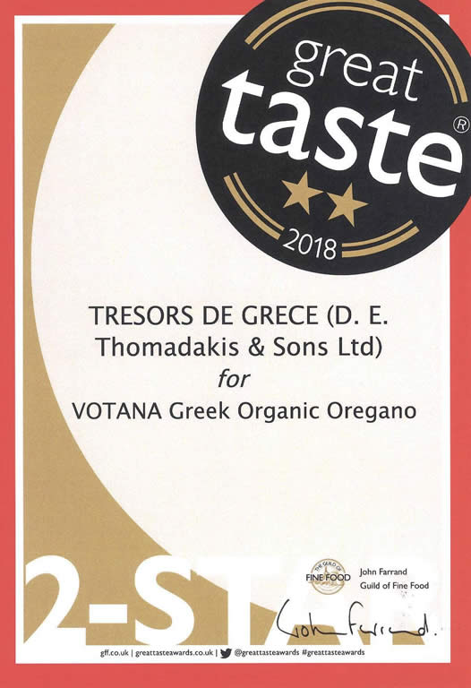gta 2018 votana oregano Votana greek organic oregano GREAT TASTE 2 STARS