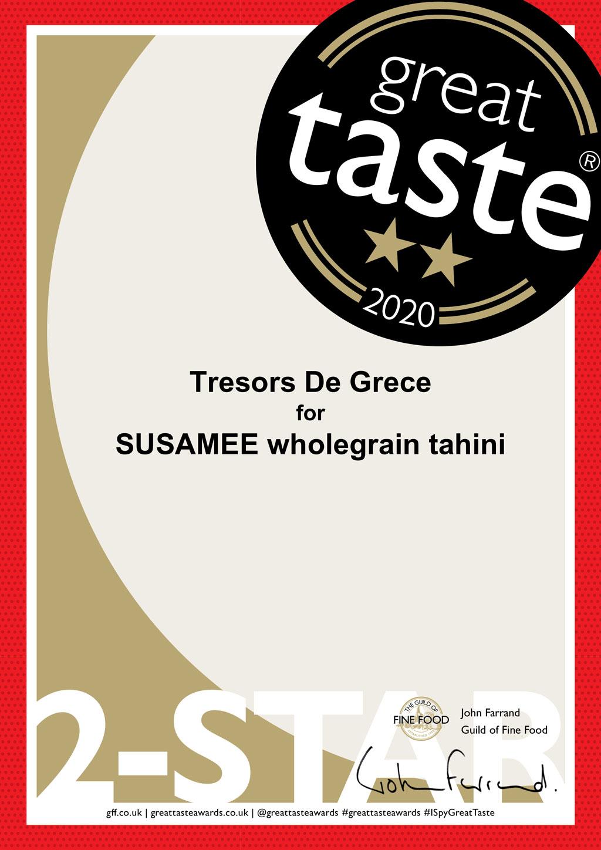 SUSAMEE wholegrain tahini 2 stars Awards & Media