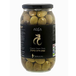 intro organic olives with garlic 600g Products